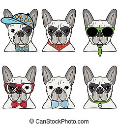 French bulldog icons II