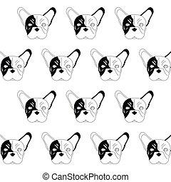 french bulldog pattern icon