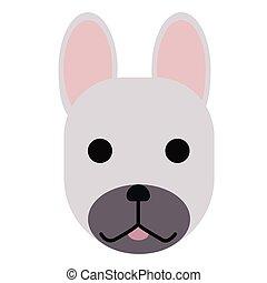 french bulldog simple art geometric illustration