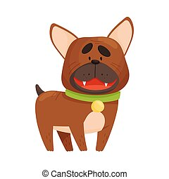 French Bulldog. Vector illustration on a white background.