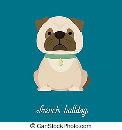 French Bulldog,cartoon vector