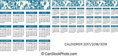 french calendar vector - french 2017 2018 2019 calendar...