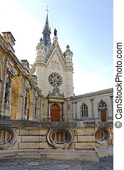 French chateau Chantilly detail - Detail of chateau...