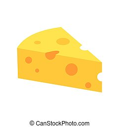 French cheese icon, flat style