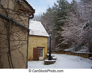 French cottage in Winter