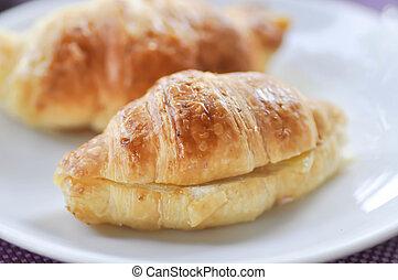 French croissant or croissant sandwich