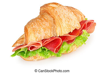 french croissant with ham