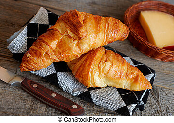 French croissants Crescents - Original French croissants is...