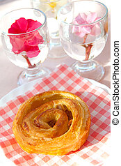 French delicious coffee roll