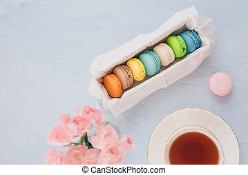 French dessert for served with afternoon tea or coffee break.