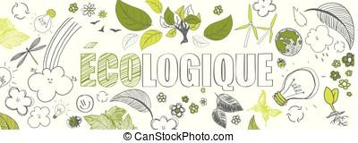 french ecologic banner - french ecologic green illustrations...