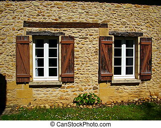 French Farmhouse Window & Shutters