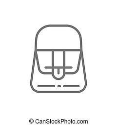 French fashion, women bag line icon.