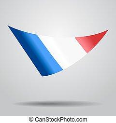 French flag background. Vector illustration.