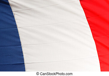 French flag close-up