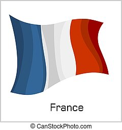 French flag, flag of France vector illustration