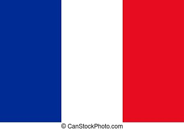 French flag, flat layout, vector illustration