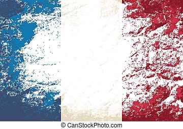 French flag Grunge background.