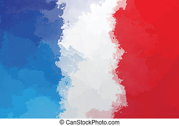 French flag - grunge design pattern