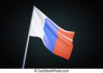 French flag on black background