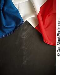 French flag on chalkboard