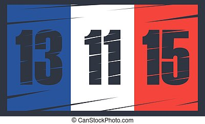 French flag on dark background.