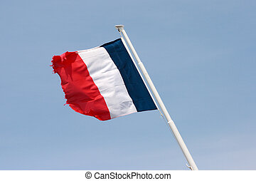 French flag on the mast