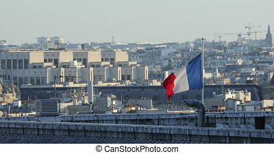 French Flag On The Rooftops Of Paris