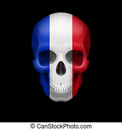 French flag skull