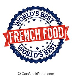 French food grunge rubber stamp