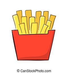 French Fries cartoon - vector illustration of a classic...