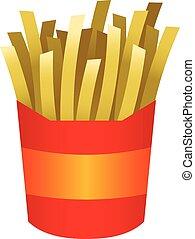 French fries cartoon vector illustration