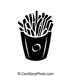 French fries icon, simple style