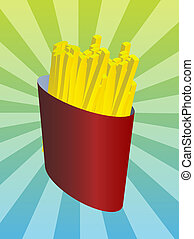 French fries illustration
