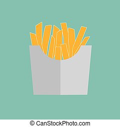 french fries in a paper box