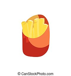 French fries in a paper wrapper icon