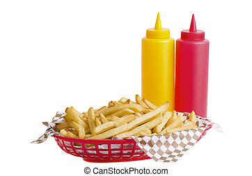 French fries in basket