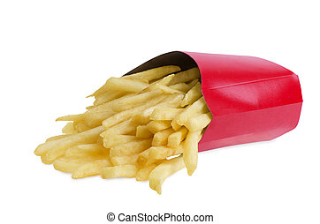 French fries in box