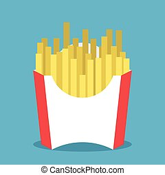 French fries in package - French fries or fried potato in...