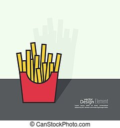 French Fries in paper Box.