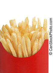 french fries isolated on