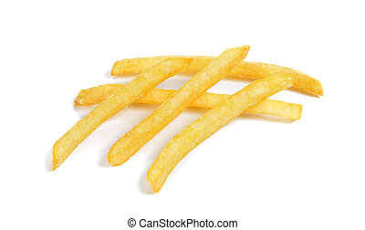 French fries isolated on the white background
