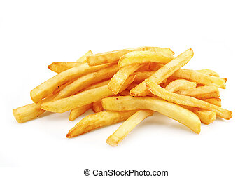 french fries isolated on white - French Fries or Chips ...
