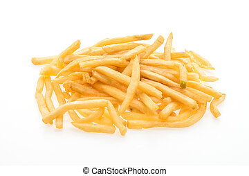 French fries isolated