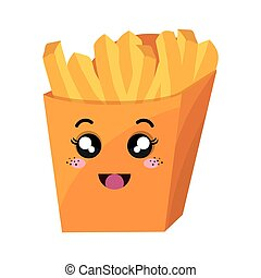 french fries kawaii style