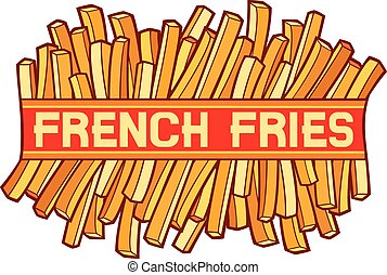 french fries label (french fries symbol)