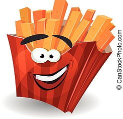 French Fries Mascot Character