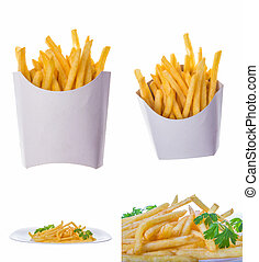 french fries portions