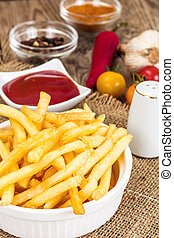 French Fries Potato with Ketchup