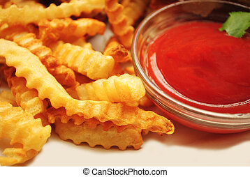 French Fries Served with Catsup